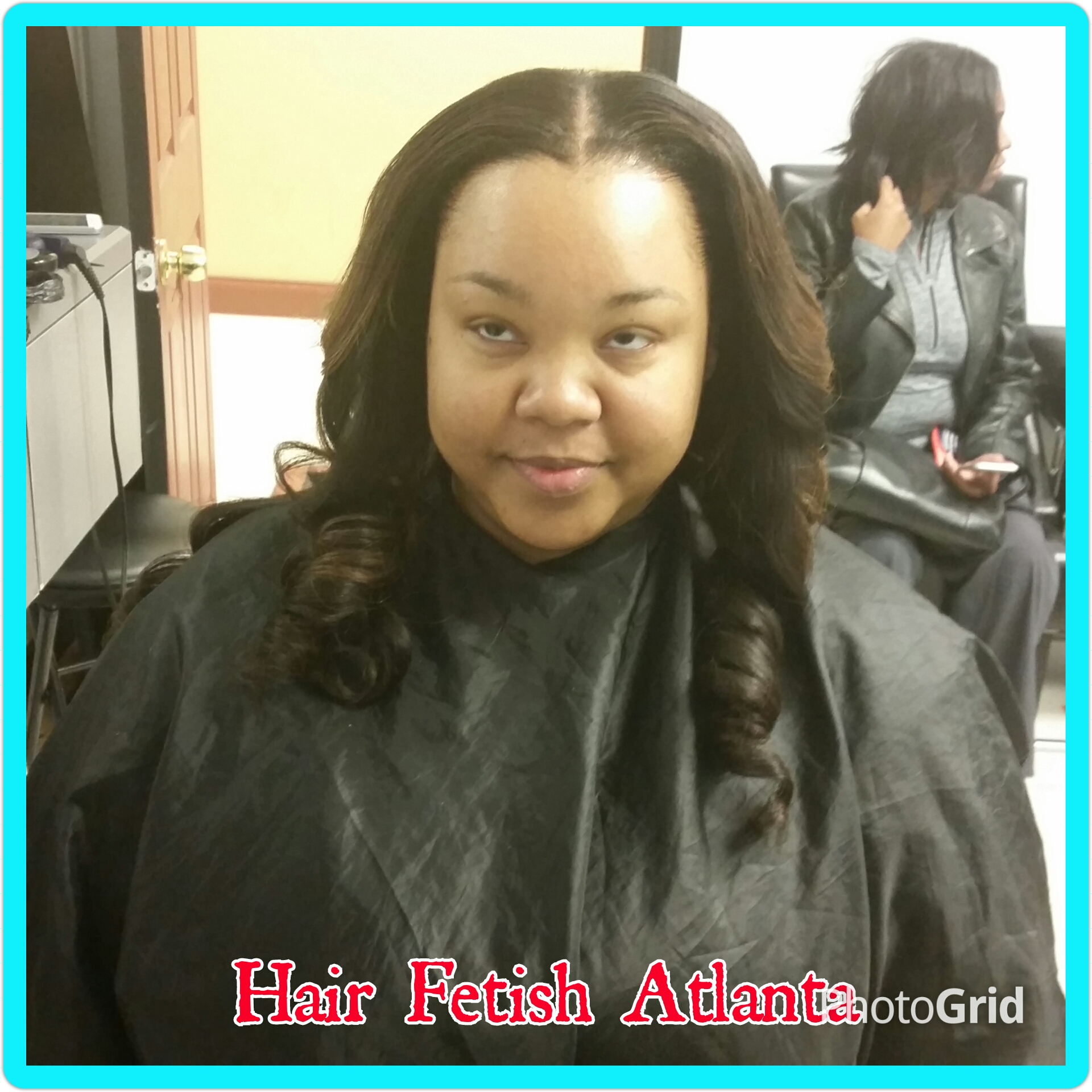 middle part sew in with ombre - hair fetish atlanta salon -